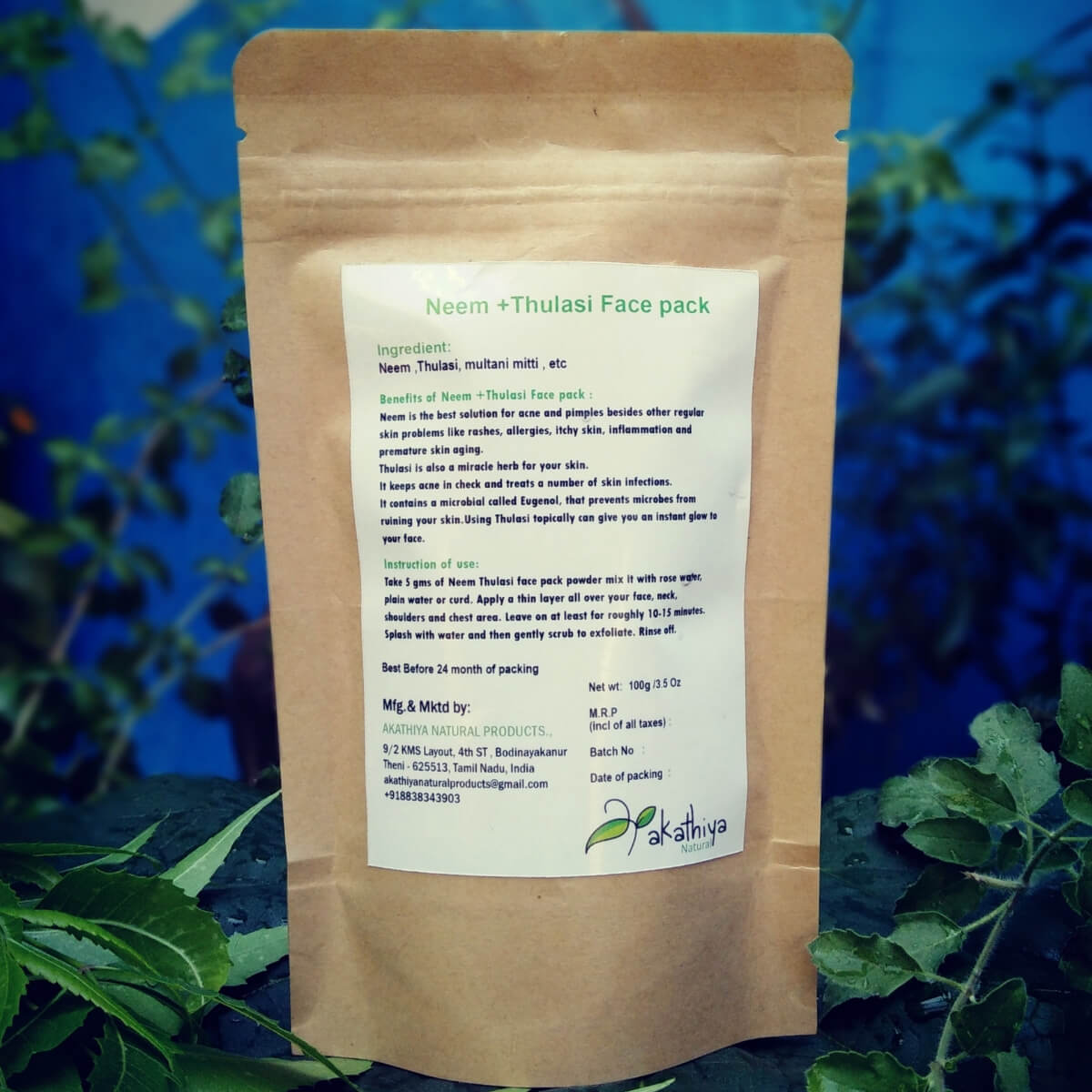 Buy AKATHIYA NEEM THULASI FACE PACK products online in India