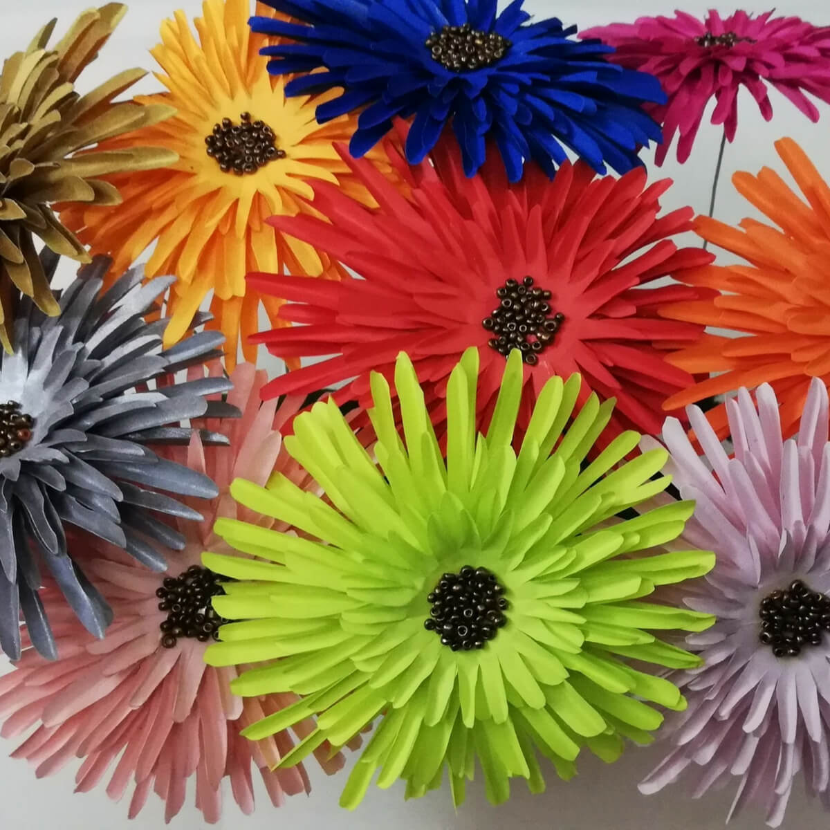 Buy Paper Flowers 4 Inch Size Set Of 10 Flowers Products