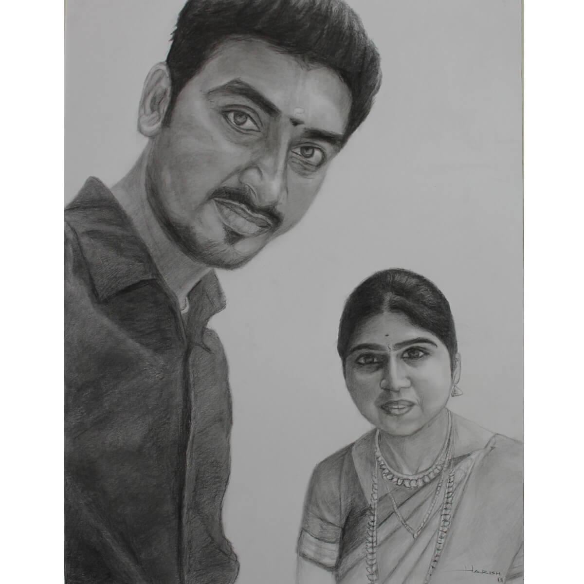 Buy stylish selfie pencil sketch commissioned portrait products online in india ruralshop